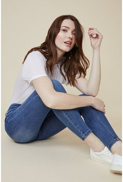 Pale wash Lily Organic High Rise Short Skinny Jean