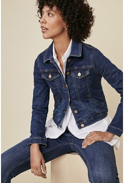 Mid wash Fitted Denim Jacket