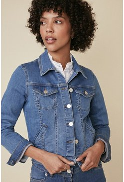 Pale wash Fitted Denim Jacket