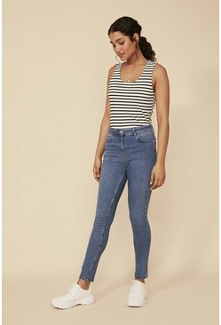 Pale wash Lily Organic High Rise Skinny Jean