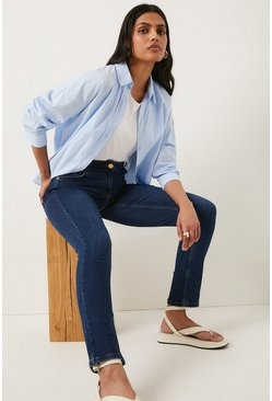 Mid wash Cherry Organic Sculpting Slim Leg Jean