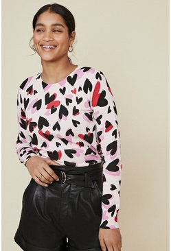 Multi Heart Print Jumper