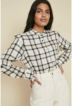 Multi Ruffle Check Shirt