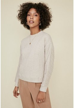 Ecru Cable Sweater