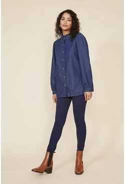 Dark navy Seam Front Ponte Trouser