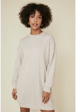 Ecru Cable Sweat Dress