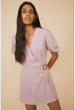 Soft pink Tailored Wrap Playsuit