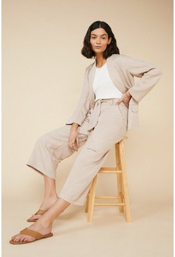 Natural Tie Waist Trouser