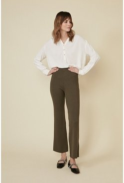 Khaki Super Soft Rib Trouser