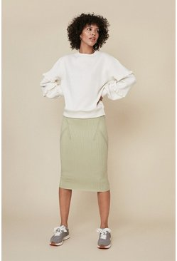 Sage Super Soft Rib Skirt
