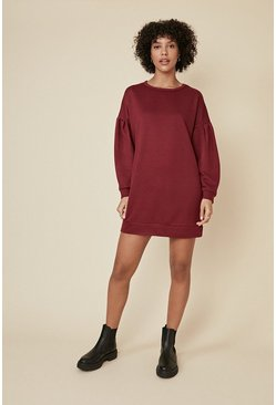 Burgundy Drop Sleeve Sweat Tunic