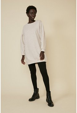 Oatmeal Drop Sleeve Sweat Tunic