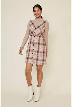 Multi Check Shift Dress