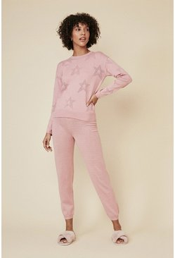 Pale pink Star Pointelle Jogger