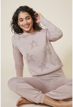 Camel Star Pointelle Jumper