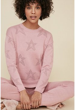 Pale pink Star Pointelle Jumper
