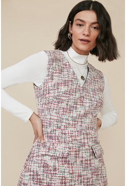 Multi Tweed Shift Dress