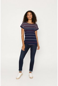 Navy Rainbow Stripe T-Shirt