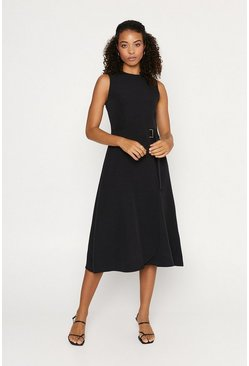 Black Buckle Side Dress