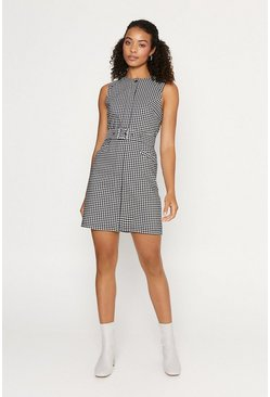 Blackwhite Gingham Shift Dress