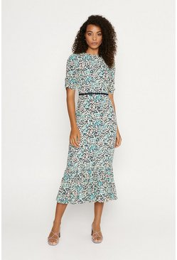 Multi Ditsy Midi Dress