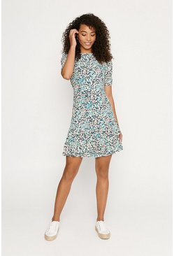 Multi Ditsy Skater Dress