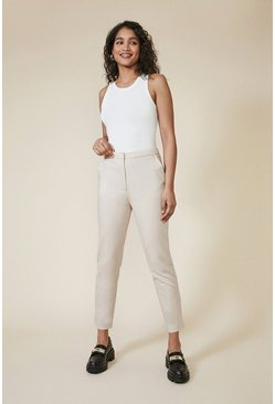 Stone Slim Leg Cotton Sateen Trouser
