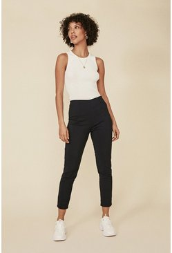 Dark navy Skinny Cotton Sateen Trouser