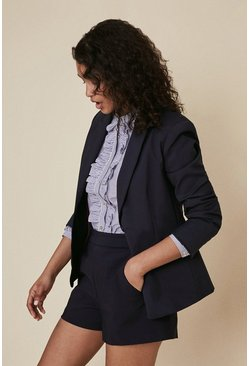 Dark navy Cotton Sateen Jacket