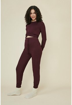 Aubergine Twist Hem Long Sleeve Top