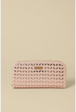 Pink Shimmer Zip Around Purse