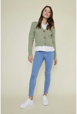 Light wash Plain Detail Jegging