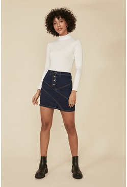 Rinse Patched Mini Skirt
