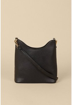 Black Scoop Edge Cross Body Bag