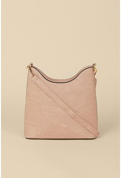 Dusky pink Scoop Edge Cross Body Bag