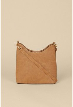 Tan Scoop Edge Cross Body Bag