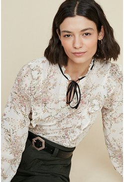 Off white Embroidered Blouse