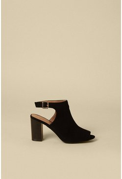 Black Peeptoe Shoeboot