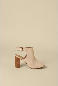 Nude Peeptoe Shoeboot