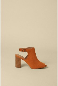 Tan Peeptoe Shoeboot