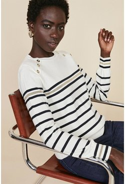 Ivory Sparkle Stripe Jumper