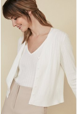 Ivory Cable Stitch Cardigan