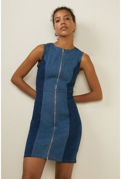 2 Tone Denim Dress