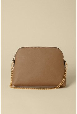 Stone Rounded Edge Cross Body Bag
