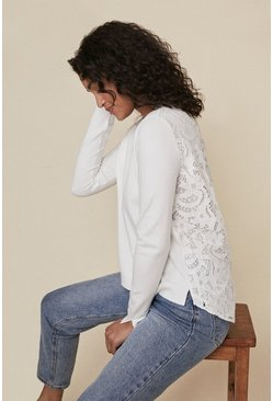 Ivory Lace Back Jumper