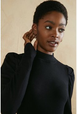 Black High Neck Jumper