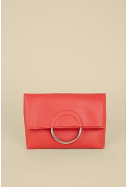 Coral Ring Detail Cross Body Bag