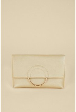 Gold Ring Detail Cross Body Bag