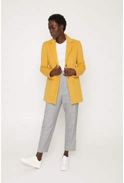 Yellow Button Through Formal Coat