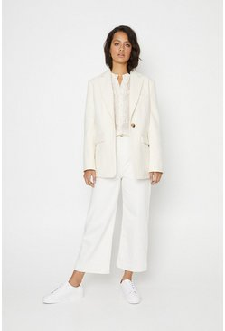 Ivory Formal Blazer Coat